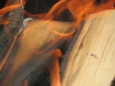 Free Burning Of Wood Royalty Free Stock Photo - 28207505
