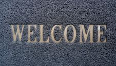 Free Welcome Doormat Royalty Free Stock Photography - 28209517