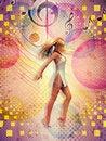 Free Dancing Girl Vintage Background Royalty Free Stock Image - 28210906