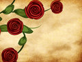 Free Roses On Grunge Paper Stock Images - 28211024