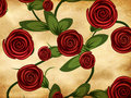 Free Roses On Grunge Paper Stock Photo - 28211040
