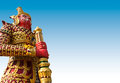 Free Giant Statue In The Temple, Generalily In Thailand, Any Kind Of Art Decorated In Buddhist Church. They Are Public Domain Or Treas Royalty Free Stock Images - 28215449