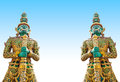 Free Giants Statue In The Temple, Generalily In Thailand, Any Kind Of Art Decorated In Buddhist Church. They Are Public Domain Or Treas Royalty Free Stock Images - 28215669