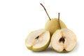 Free Sliced & Full Ripe Organic Pear On White Stock Photo - 28216270