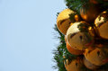 Free Golden Christmas Globes With Copyspace On Left Stock Photography - 28218502