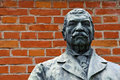 Free Bronze Sculpture Of A Man With Moustache Stock Images - 28218594