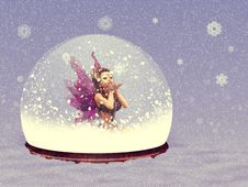 Snow Globe With Fairy Royalty Free Stock Photo