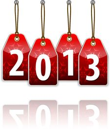 Free Red Hanging Tags With The 2013 Royalty Free Stock Images - 28212039