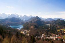Free View From Nueschwanstein Castel Stock Photo - 28213070