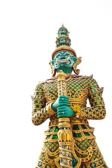Free Giant Statue In The Temple, Generalily In Thailand, Any Kind Of Art Decorated In Buddhist Church. They Are Public Domain Or Treas Stock Images - 28215334