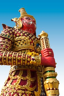 Free Giant Statue In The Temple, Generalily In Thailand, Any Kind Of Art Decorated In Buddhist Church. They Are Public Domain Or Treas Royalty Free Stock Images - 28215409