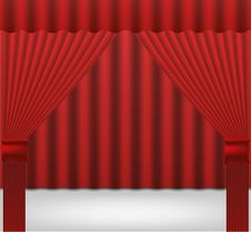 Free Curtain Royalty Free Stock Photo - 28215875