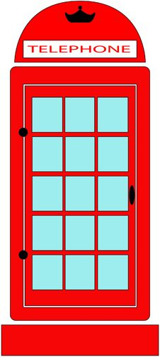 Free Red Telephone Booth Stock Photography - 28215912