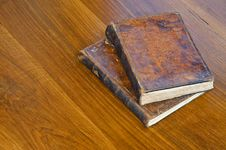 Free Old Books On A Table Stock Photo - 28218720