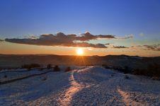Free Beautiful Winter Sunset Landscape Royalty Free Stock Images - 28218759