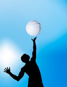 Vector Volleyball Player Royalty Free Stock Image