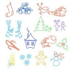 Free Set Of Christmas Icons Stock Image - 28219441