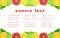 Free The Fruit Dietary Menu Stock Photo - 28216030