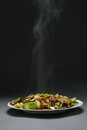 Free Beef With Vegetables And Bamboo Stock Images - 28222474
