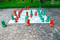 Free Big Chess Set In The Park Royalty Free Stock Photo - 28228825