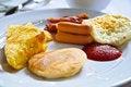 Free Breakfast - Toasts, Eggs, Bacon,hotdog Stock Images - 28228864
