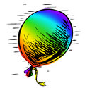 Free Party Balloon With Ribbon Royalty Free Stock Photos - 28229608