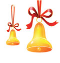 Free Christmas Bell With Red Ribbon Royalty Free Stock Photos - 28229618