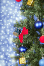 Free Christmas Toys On A Tree Royalty Free Stock Photo - 28229855