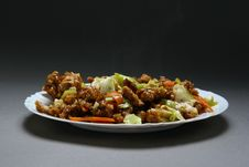 Free Dry Crispy Beef In Soy Sauce Stock Photography - 28221932