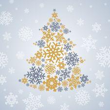 Free Christmas Snowflakes Tree Stock Photos - 28223833