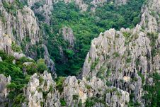 Free Close Up Of Carbonate Mountain - Khao Dang,Sam Roi Yod Stock Images - 28226454