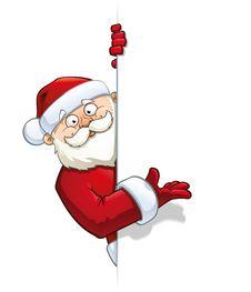 Santa Claus Pointin At A Label Royalty Free Stock Photos