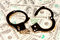 Free The Handcuffs Are On The Chaotic Dispersal Of U.S. Dollar Stock Photography - 28220332