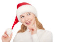 Free Christmas Happy Young Woman Isolated On White Background Royalty Free Stock Image - 28237046