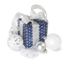 Dark Blue Gift Box Royalty Free Stock Photography
