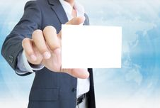 Free Businessman With White Note Royalty Free Stock Photography - 28235837
