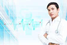 Free Asian Smart Doctor Stock Images - 28235944
