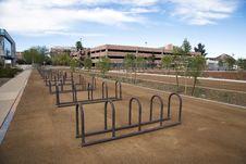 Free Bike Racks Royalty Free Stock Photo - 28236635