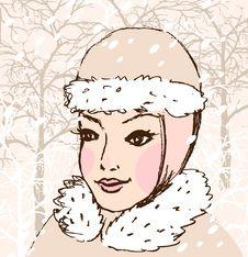 Free Winter Woman Stock Image - 28236711