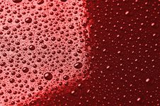 Free Water Droplets Are Red Royalty Free Stock Photos - 28237128
