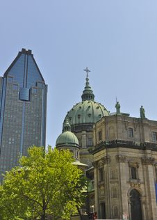 Mary Queen Of The World Cathedral Montreal Royalty Free Stock Photography