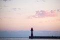 Free Lighthouse Near Sea At Sunset Stock Photography - 28246682