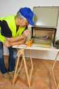 Free Electrician At Work Royalty Free Stock Photos - 28247848