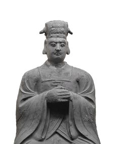 Free Statue Of Oriental Nobleman Isolated Royalty Free Stock Images - 28240019