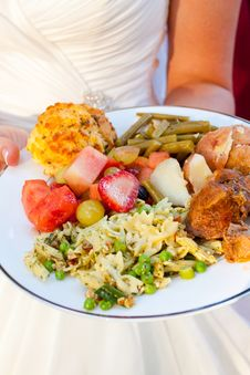 Free Bride And Wedding Food Royalty Free Stock Images - 28243499
