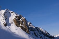 Free Winter Mountain Slope Stock Image - 28245141
