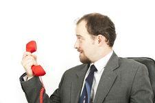 Businessman-communication Royalty Free Stock Photography