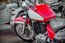 Free Red And White Chopper Stock Photos - 28246473