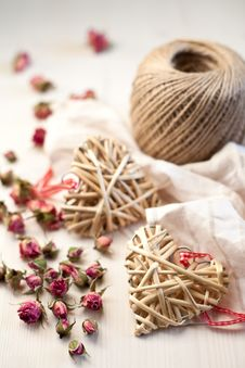 Free Hearts Made Of Straw Stock Image - 28248181