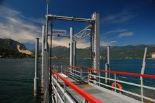 Free Carciano Landing Pier, Lake Maggiore Royalty Free Stock Image - 28249036